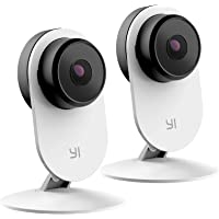 YI 2pc Security Home Camera 3 Baby Monitor, 1080p WiFi Smart Wireless Indoor Nanny IP Cam with Night Vision, 2-Way Audio…