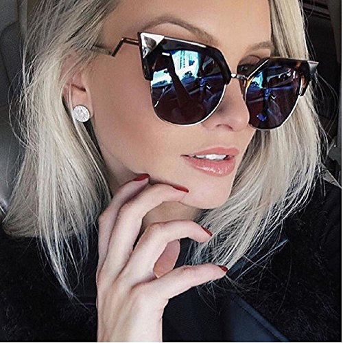 Winla Cat Eye Sunglasses Women Newest Fashion Designer Coating Mirrors Metal Bending Temple Sun Glasses Feminino - For Different Names Sunglasses