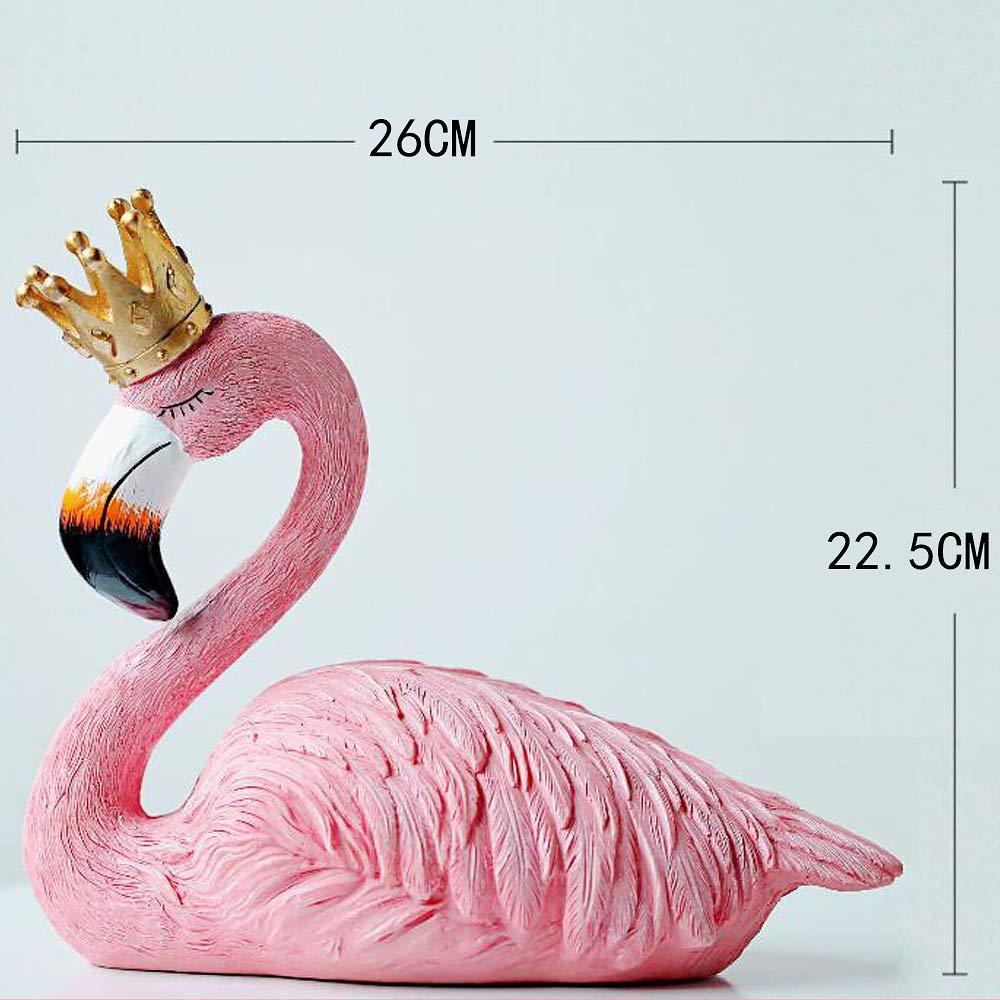 Amazon Aukuzi Lover Flamingo Home Decoration Mini Resin Pink