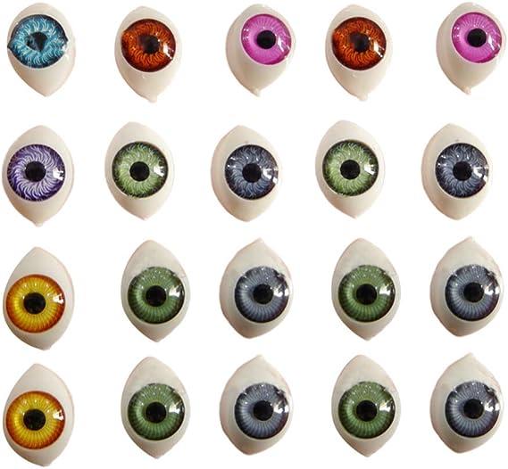 Occhi di gatto in vetro 10/mm in giallo fantasy Dragon per bambola sculture o fare gioielli set di 2