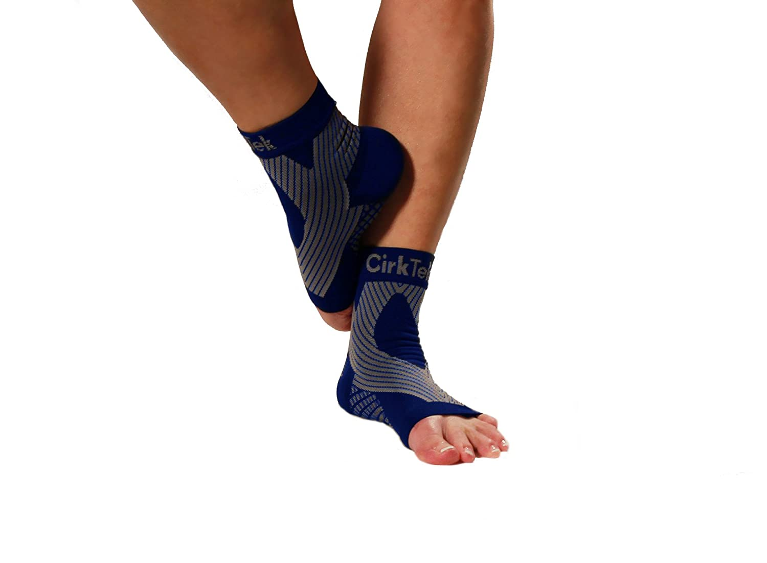 MDSOX 096962784768 Premium Ankle Compression Foot Sleeve X-Large Black Pack of 2
