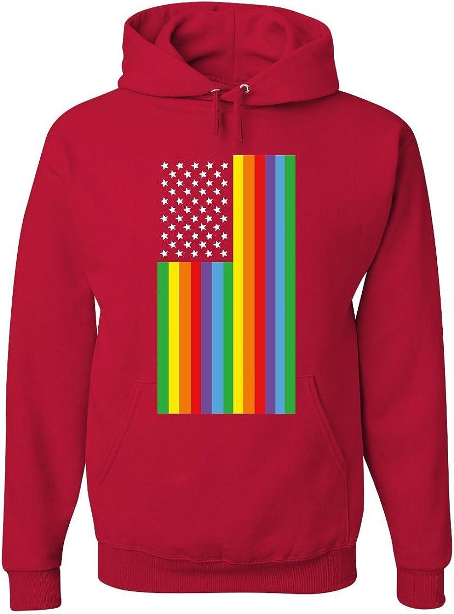 Gay Pride Rainbow Flag Hoodie LGBTQ Love Wins Equality
