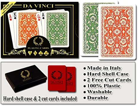 Lucky gold plastic coated playing cards