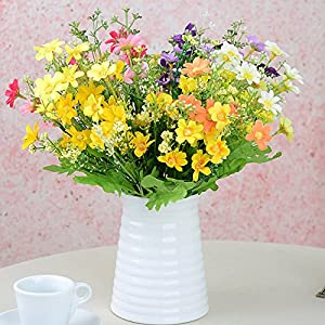 Riverbyland Artificial Flowers Bunches of 8 Assorted Colors Daisy