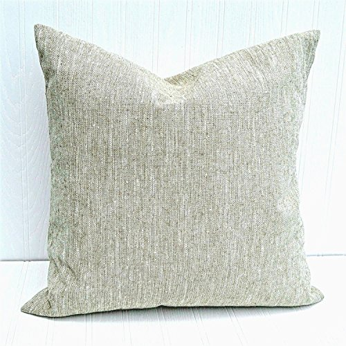 Pillow Cover 18x18 Rustic Farmhouse Natural Linen