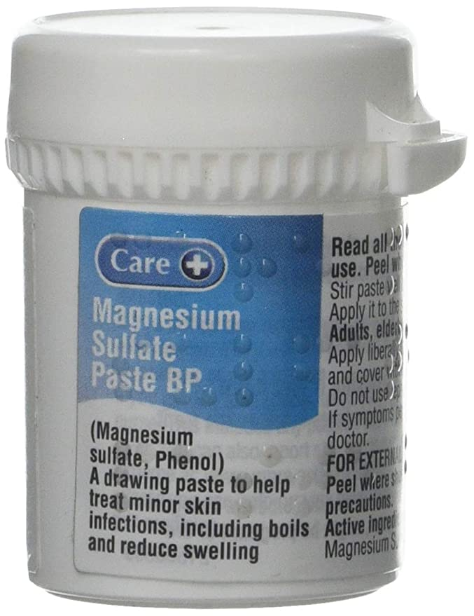 Care Magnesium Sulphate Paste BP 50g: Amazon.es: Salud y cuidado personal