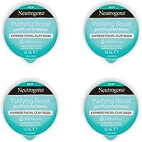 Neutrogena Clay Mascarilla Purificante de Arcilla - 4 Recipientes de 10 ml - [Total: 40 ml]
