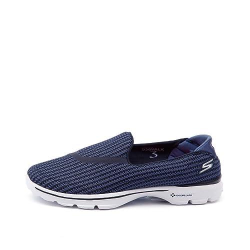 e786e517b51b Skechers Go Walk 3 Performance Division Memory Foam Walking Shoes -  Navy Light Blue