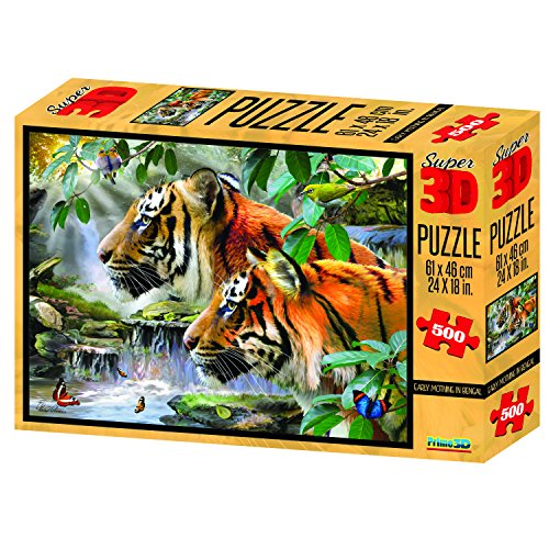 Howard Robinson Early Moring in Bengal Super 3D Puzzle (500-Piece, Multi-Colour)
