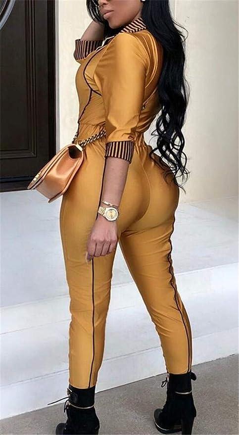 Spirio Womens Metallic Long Sleeve Classic Pockets Zipper Jumpsuits Romper