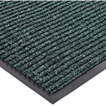 """NoTrax 117 Heritage Rib Entrance Mat, for Lobbies and Indoor Entranceways, 2' Width x 3' Length x 3/8"""" Thickness, Hunter Green"""