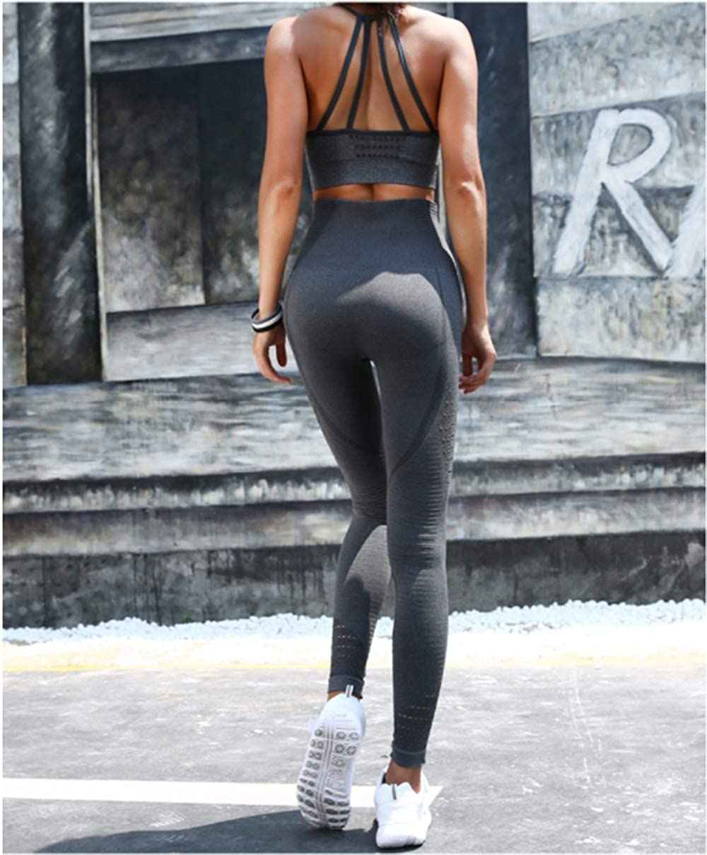 High Waist Tummy Control Sports Leggings Running Tights Training Pants Casual Trousers gray5, S BBY Women Yoga Leggings