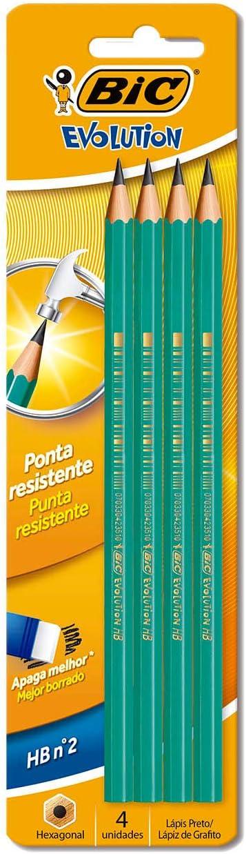 BIC Evolution Pencils Graphite HB x 10 Packs New 100 Pencils Total **Free P/&P**