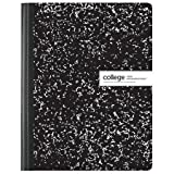 Composition Book, Marble Black/White, 9 3/4'' x 7 1/2'', College Ruled, 80 Pages (3 Pack)