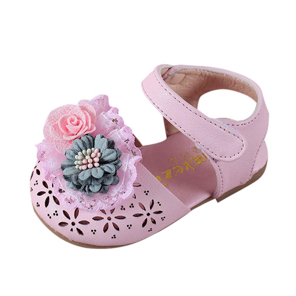 Toddler Kids Newborn Baby Girls Elegant Solid Flower Single Shoes Little Princess Rubber Sole Flat Leather Boots