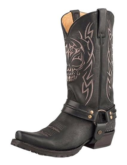 0fa12745567 Amazon.com: Roper Mens Skull Snip Toe Black Boots 8.5EE: Sports ...
