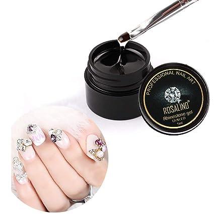 9bf15967da Amazon.com: Euone Glitter Glue Rhinestone UV Gel Nail Polish ...