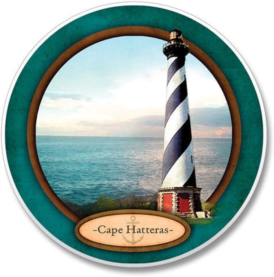 Amazon Com Absorbant Stone Car Coaster Cape Hatteras Lighthouse Set Of 2 Coasters