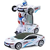 Johnnie Boy Robot to Car Converting Transformer AUTO Function Speed CAR with 3D Special Light ( Transforming Car into Robot ) (Multicolor)