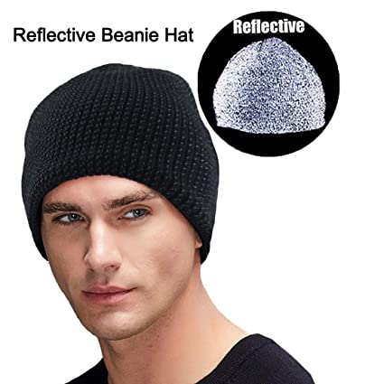 Amazon.com   Oeyliz Beanie for Men Women Running Hat Reflective ... 4ebf830b1a9