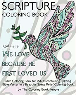 Amazon.com: Scripture Coloring Book: Bible Coloring Book for Adults ...
