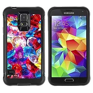 Suave TPU GEL Carcasa Funda Silicona Blando Estuche Caso de protección (para) Samsung Galaxy S5 V / CECELL Phone case / / Precious Stones Pile Jewelry Colorful Glass /