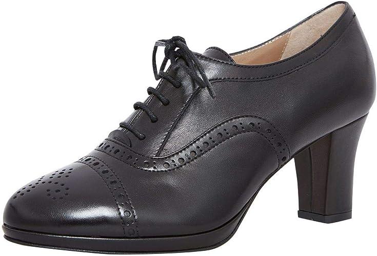 dirndl + bua Damen Dirndl Schuhe Pumps Agnes in Schwarz