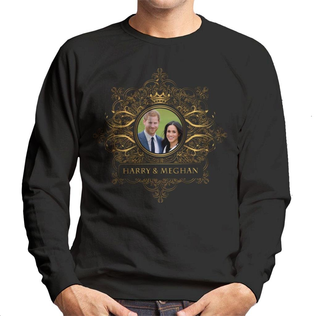 Coto7 Golden Star Frame Harry and Meghan Royal Wedding Men's Sweatshirt