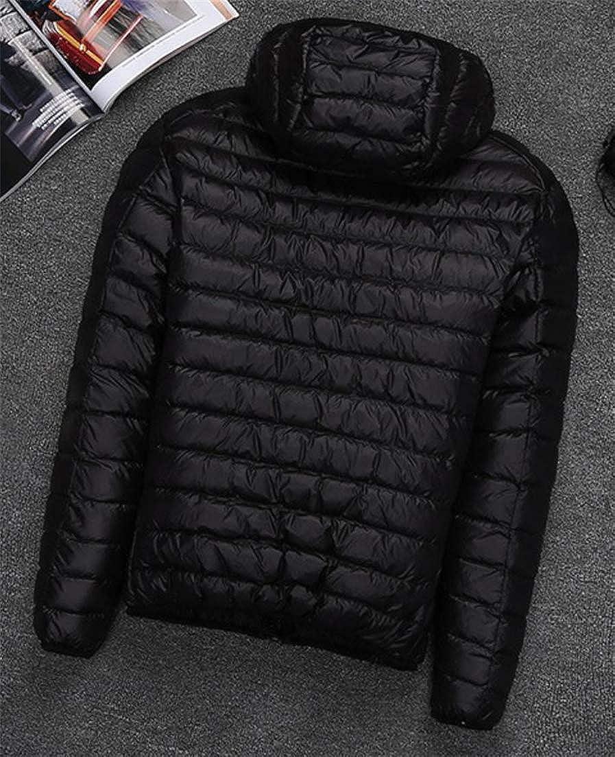 Conffetti Men Light Weight Puffer Hooded Outerwear Fashion Autumn Winter Packable Down Jacket
