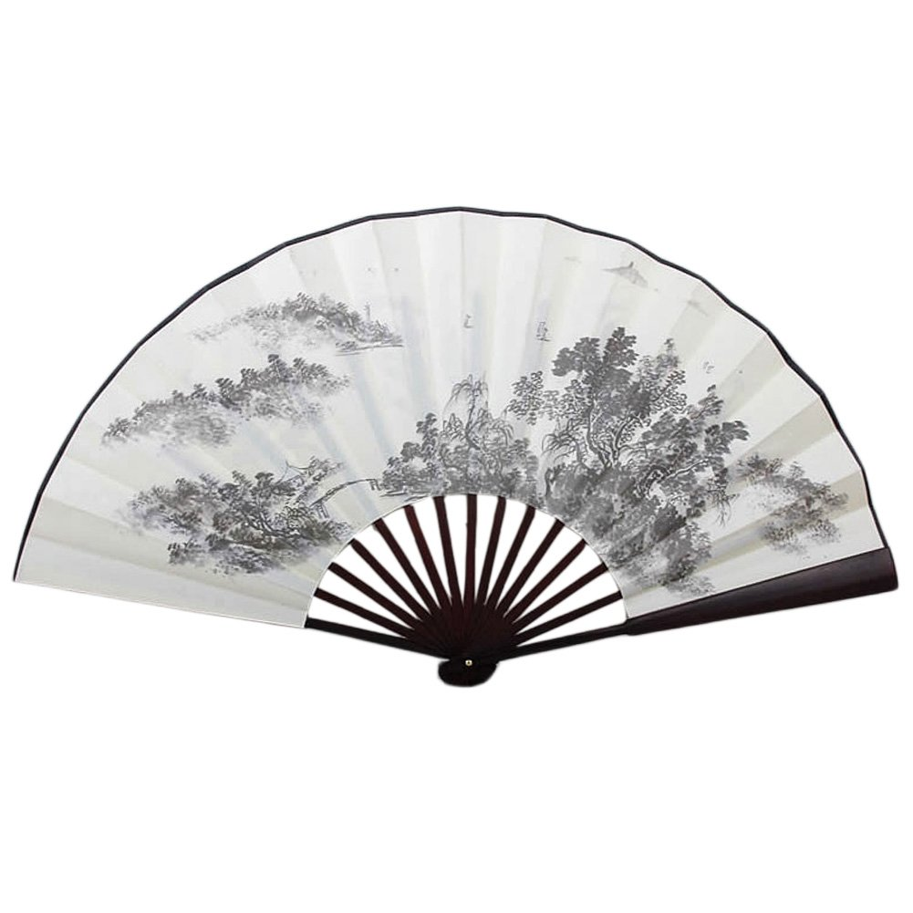 Chinese Traditional Sick Fan With The Distance Of The Sailing Pattern Kylin Express