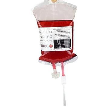 Fdit Bolsa de Bebida de Sangre de PVC 380ml Bolsa de Infusión Bolsa de Sangre Bolso de Infusión Sistema de Infusión Donante de Sangre Broma Regalo ...