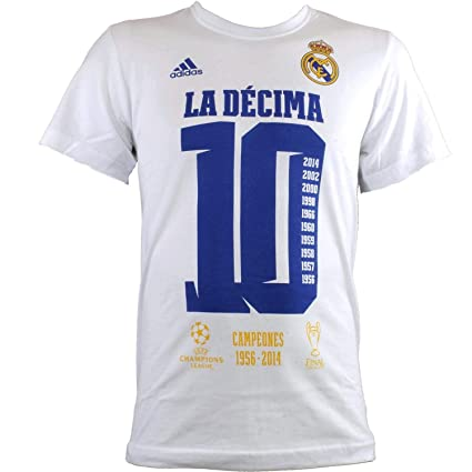 Adidas - REAL MADRID CAMISETA UCL DECIMA JUNIOR color: Blanco talla: 164