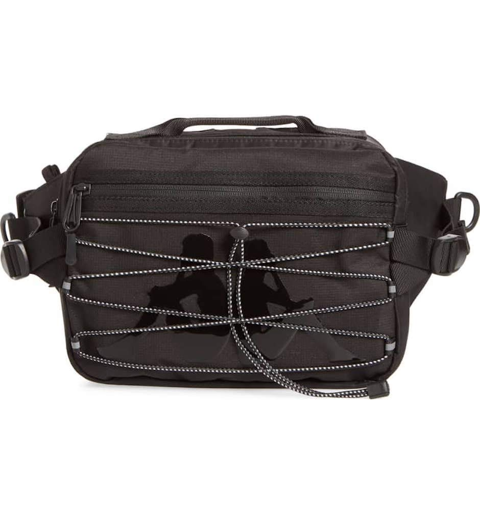 Kappa Bags The Premium Fannypack in Black and White OS