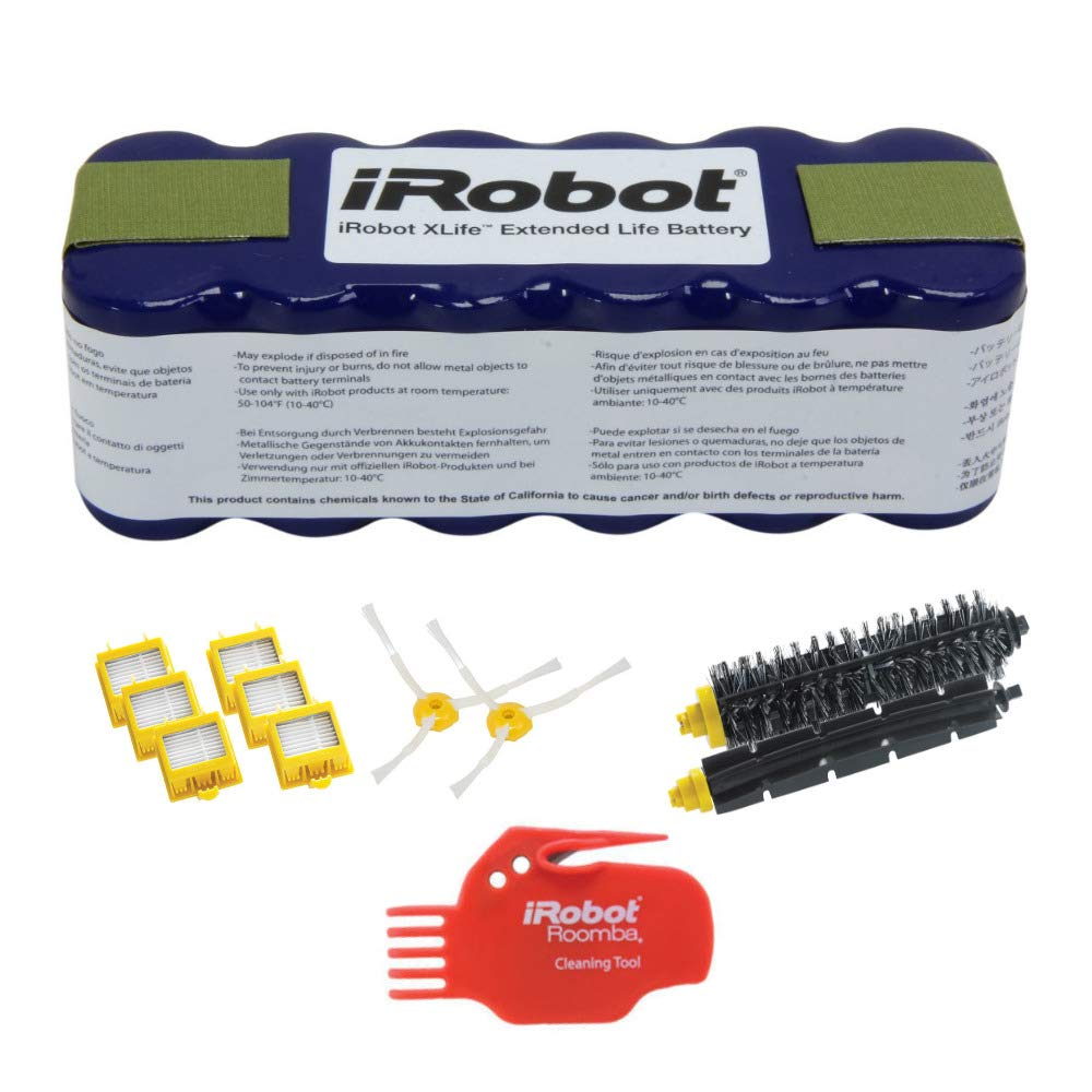 iRobot 4419696 XLife Extended Life Battery w/iRobot 4503462 Replenishment Kit for 700 Series Roomba Vacuums