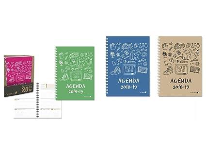 Agenda Escolar 19-20 1/4 1 Dia Por Pagina Tapa Dura Surtido ...