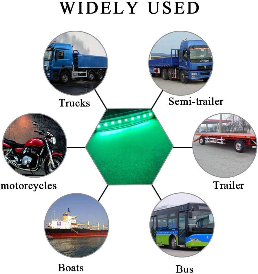 Sidaqi 8x 3.9 Blue Trailer Truck RV Side Marker Indicators Lights 9 LED Clearance Marker Warning Light Waterproof 12-24V