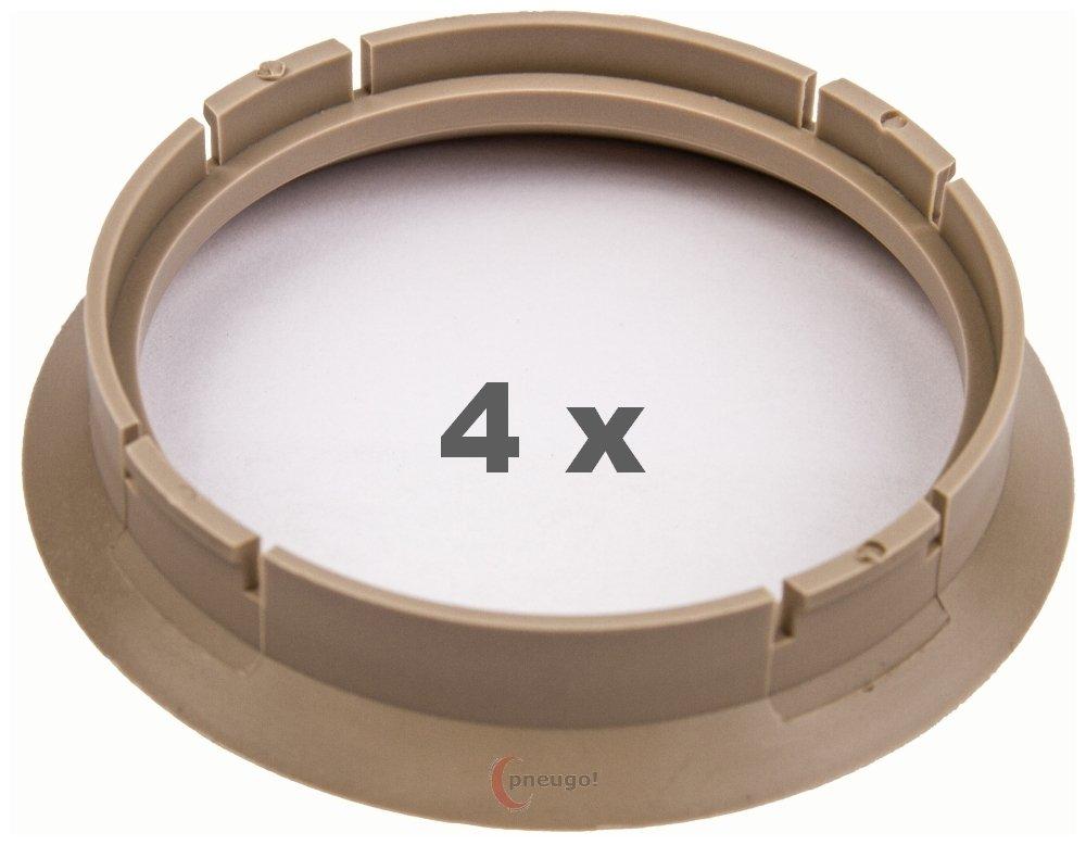 4 X Anello Di Centraggio 64.0 su 57.1 Beige Pneugo