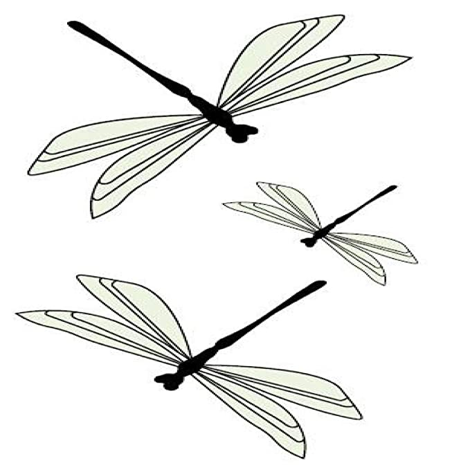 adgkitb 5piezas libélula Tatuaje Temporal Pegatina Impermeable ...
