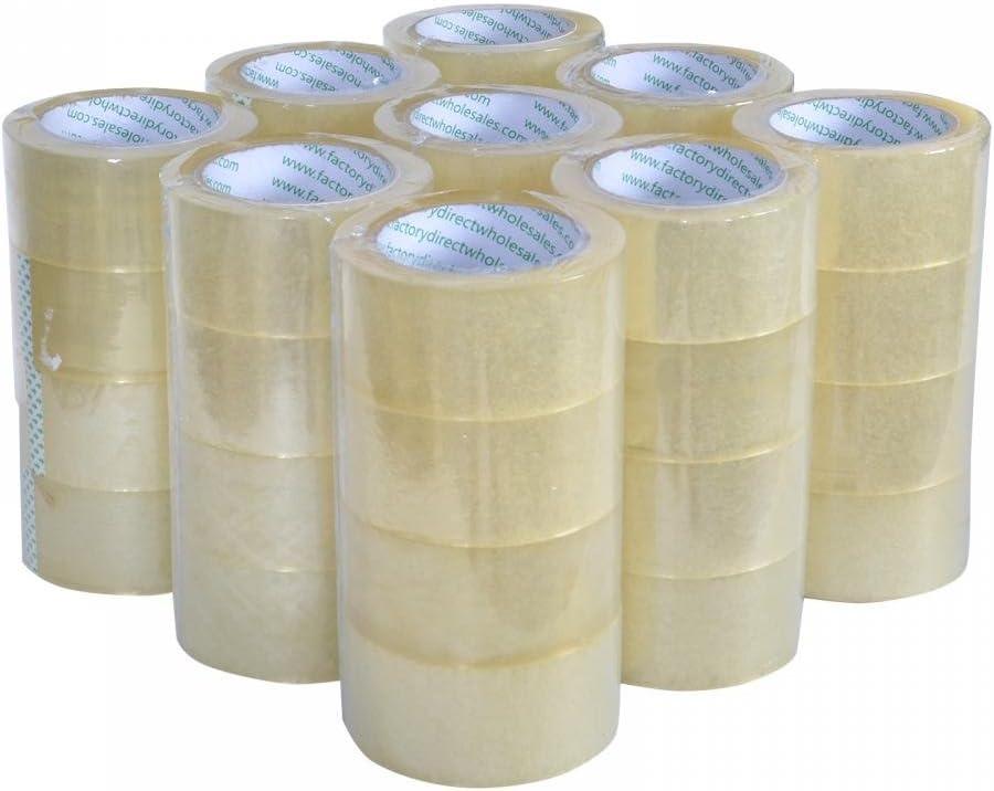 "12 Rolls Clear Machine Carton Sealing Packaging Tape 2 Mil 2/"" x 1000 Yards"