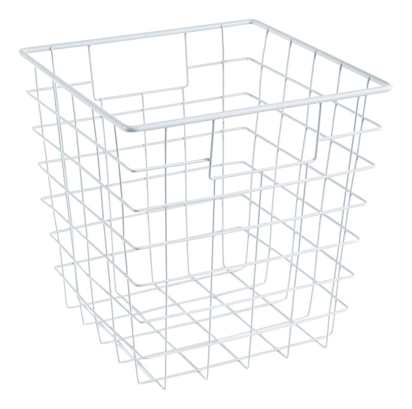 ClosetMaid 13032 Cubeicals Wire Storage Bin with Handles White