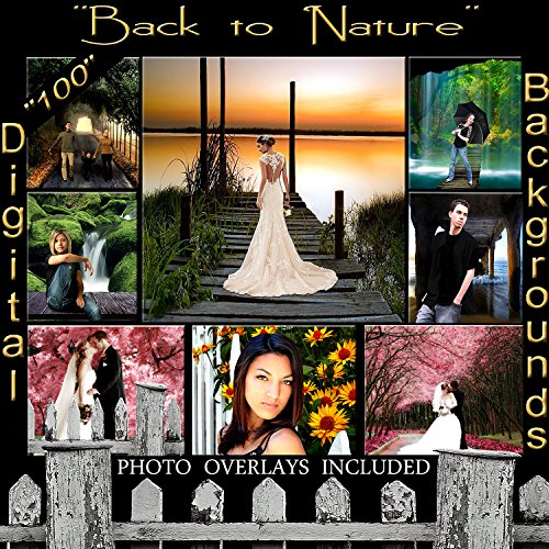 Digital Backgrounds Studio Backdrops Back to Nature Scenes Sandwich Layered Props Ideal for Green Screen ()