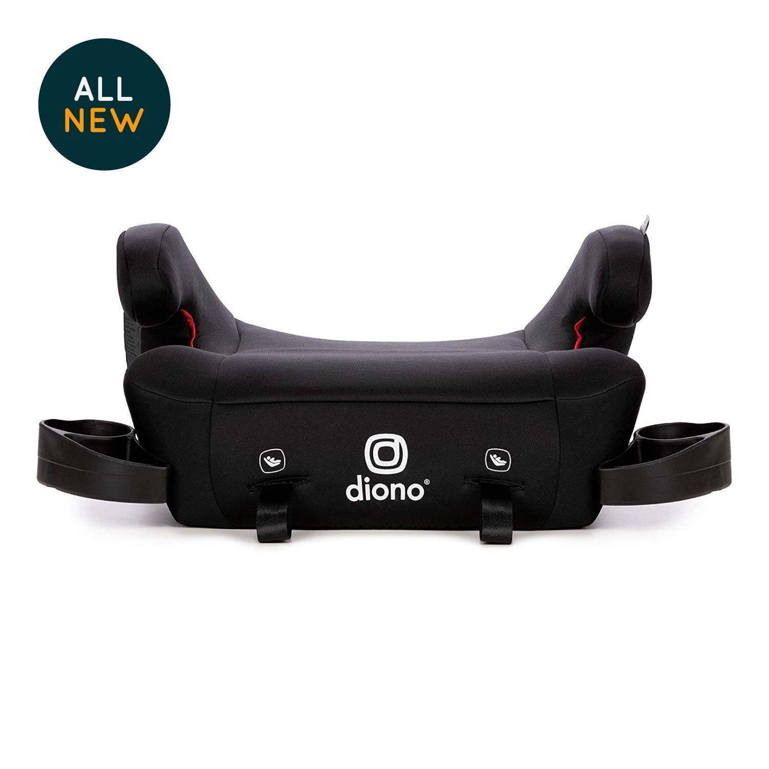 Diono Solana 2 No-Back Child Booster Seat, Black