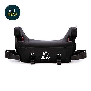 Diono Solana 2 No-Back Child Booster Seat, Black