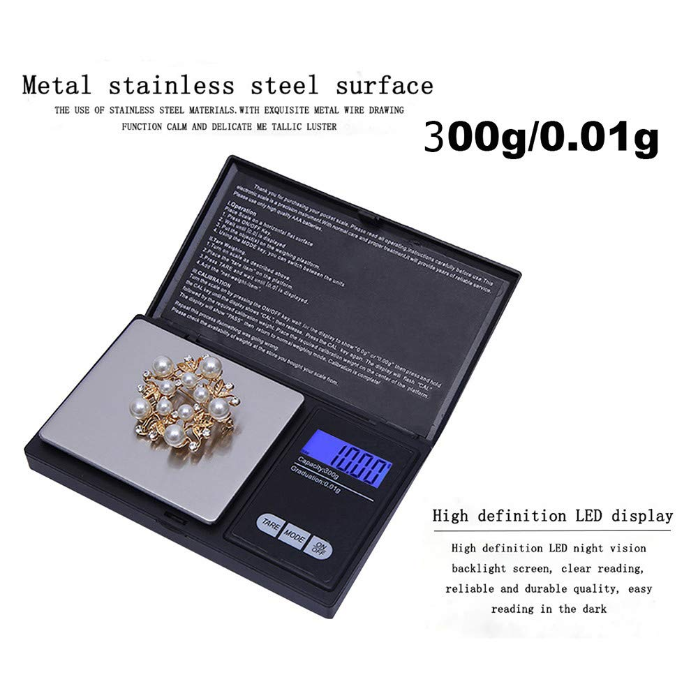 Ugood 2019 300g/0.01g High Precision Digital Electronic Scale for Jewelry Reloading Kitchen by Ugood_ (Image #2)