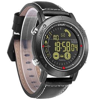 CCYOO Smartwatch Sport Reloj Digital Reloj Automático para Hombre Reloj De Pulsera Inteligente Fitness,Black: Amazon.es: Deportes y aire libre
