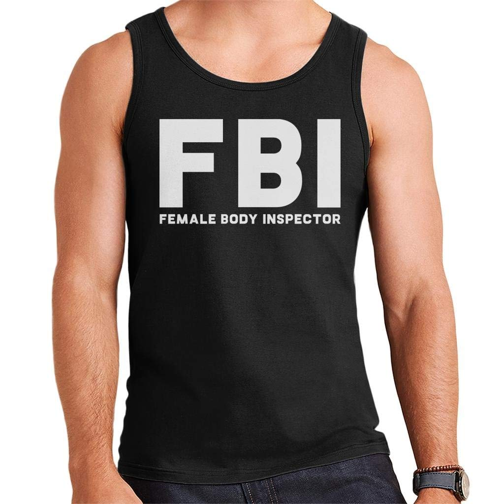 IHDABGDM FBI Female Body Inspector Mens Vest