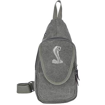 9c7eb9648a68 Amazon.com | Black Mustang Cobra Sandwich Canvas Sling Bag Outdoor ...