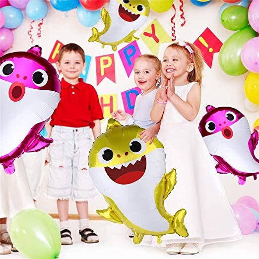 Ablerfly Shark Balloons, 8PCS Baby Shark Balloons Set, Cute ...