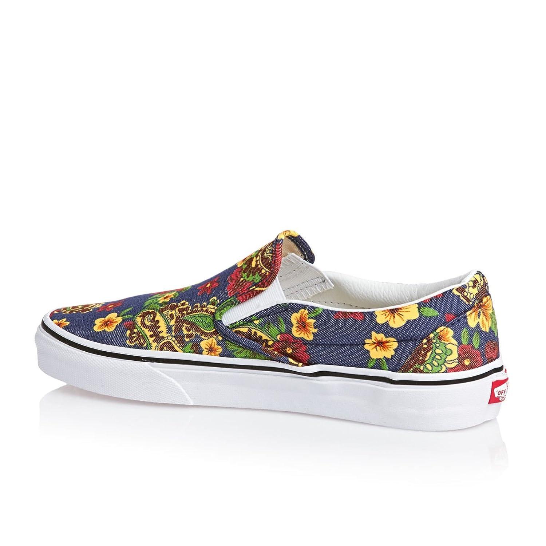 Vans Classic Slip-on Shoes - (aloha) Dress Blues: Amazon.co.uk: Shoes & Bags