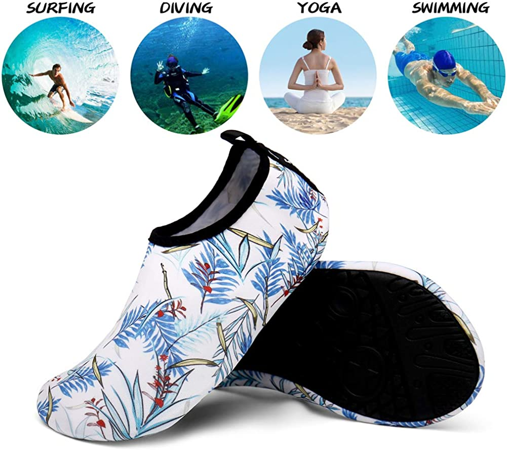 UBFEN Water Shoes Womens and Mens Aqua Socks Quick-Dry Barefoot for Outdoor Sports Beach Swim Surf Yoga Exercise